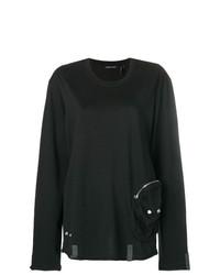 Jersey oversized negro de Helmut Lang