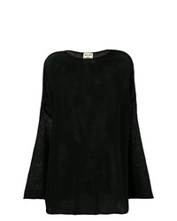 Jersey oversized negro de Semicouture