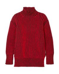 Jersey oversized rojo de Balenciaga