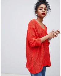 Jersey oversized rojo de Noisy May