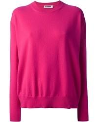 Jersey oversized rosa de Jil Sander