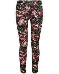 Leggings con print de flores negros de Givenchy