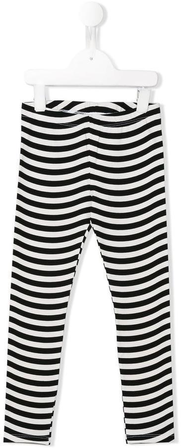 Leggings de rayas horizontales en blanco y negro de Fendi