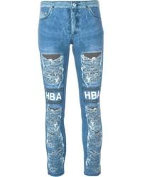 Leggings estampados azules de Hood by Air