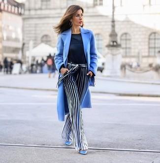 Como Combinar Un Abrigo Celeste 64 Outfits Lookastic Espana