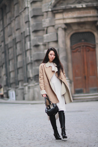 Abrigo de piel de oveja marrón claro de MiH Jeans