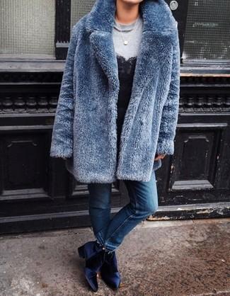 deba18c2 Botines de terciopelo azul marino de Joie, €296 | shopbop.com ...