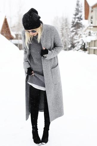 Guantes de lana negros de Inverni