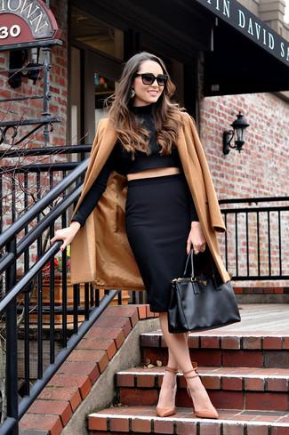 Zapatos de tacón de cuero marrón claro de Rebecca Minkoff