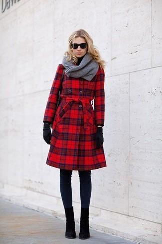 Guantes de lana negros de Plush