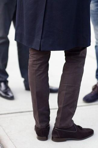 Mocasín con borlas de ante en marrón oscuro de Edward Green