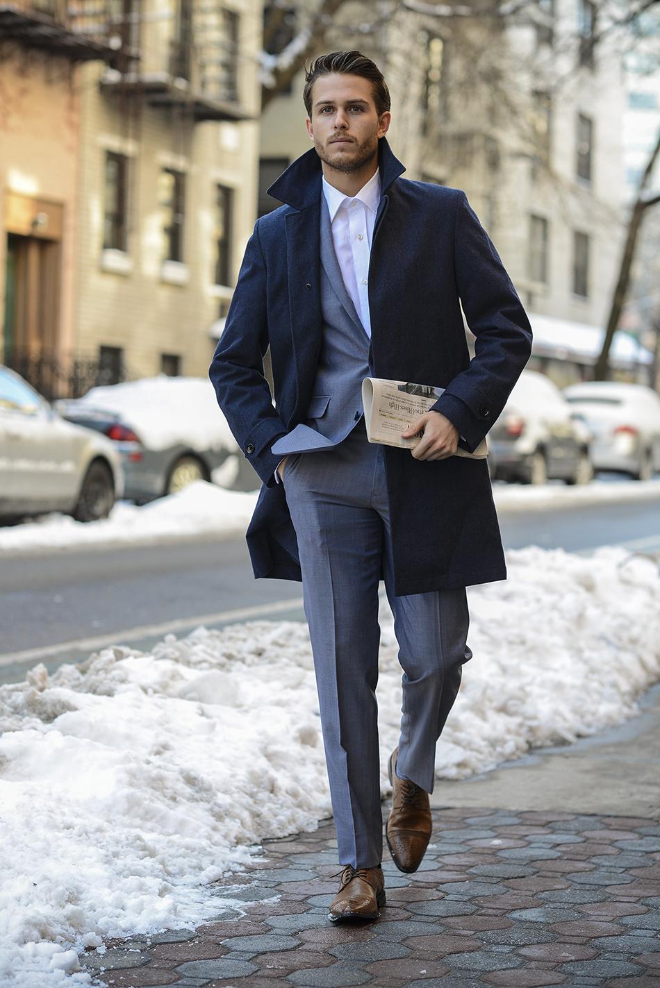 looks moda 152 marino abrigo azul Moda largo Cómo un de combinar TnYqzwFFB0