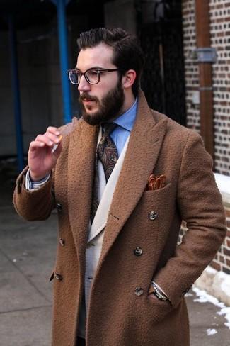 Abrigo largo marrón de Paul Smith