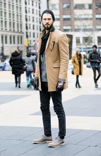 lana blazer abrigo claro de marrón gris largo Cómo en combinar gris vaqueros n5BxWXYII0