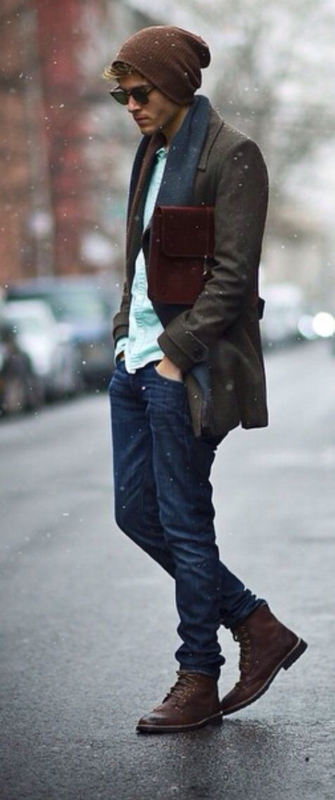Bufanda para abrigo azul marino