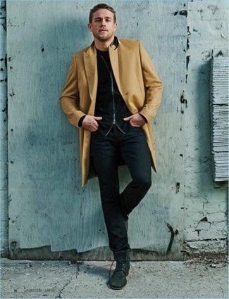 Jersey con cremallera negro de Tom Tailor