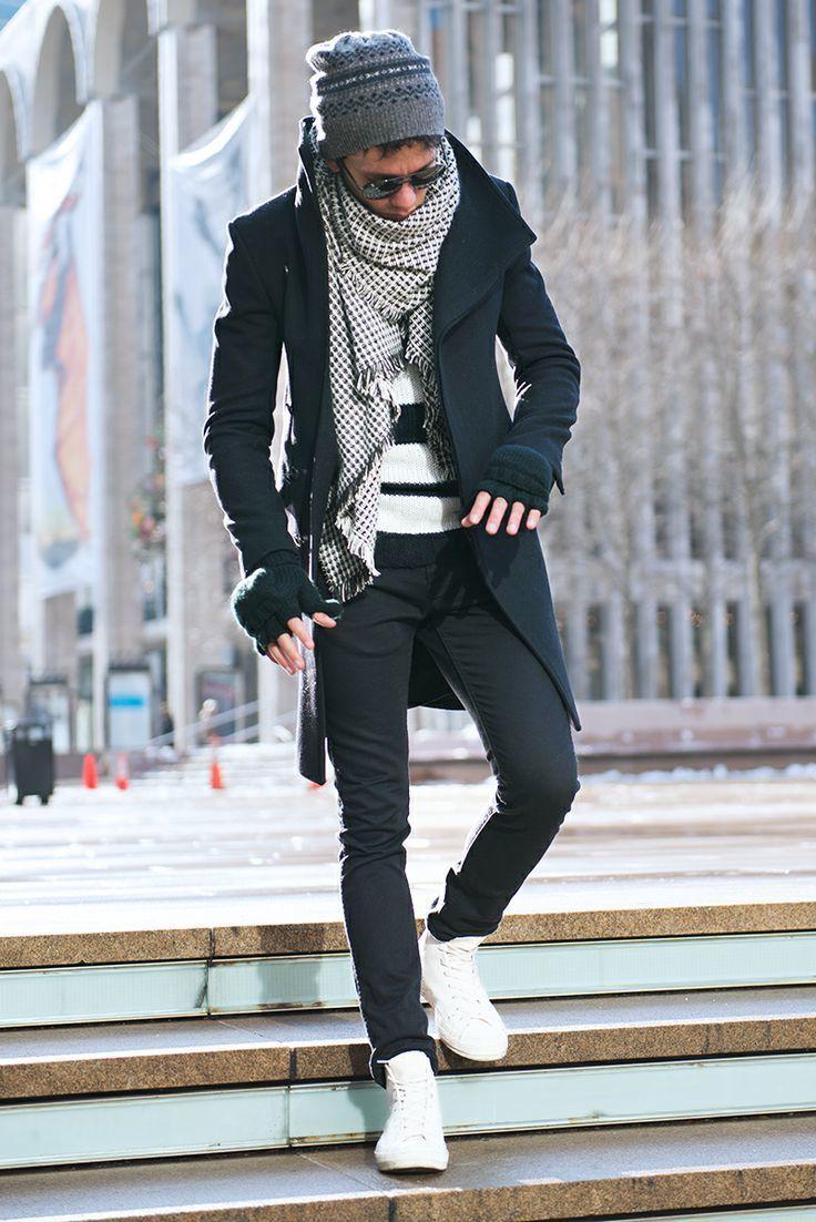 Cómo combinar unas gafas de sol negras con un abrigo largo negro (9 ...