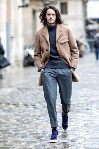 Pantalón de vestir de lana gris de ASOS DESIGN