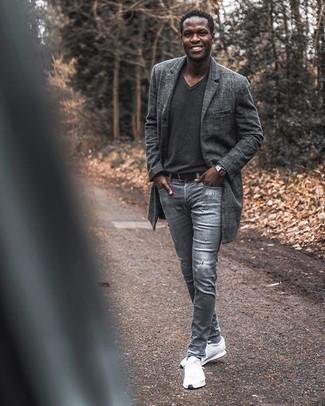 Correa de cuero negra de Saint Laurent