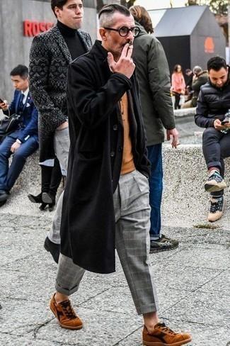 Pantalón chino de tartán gris de ASOS DESIGN