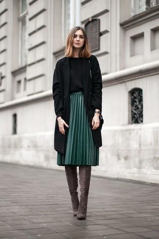 8d15e14fd Cómo combinar una falda verde oscuro (87 looks de moda)