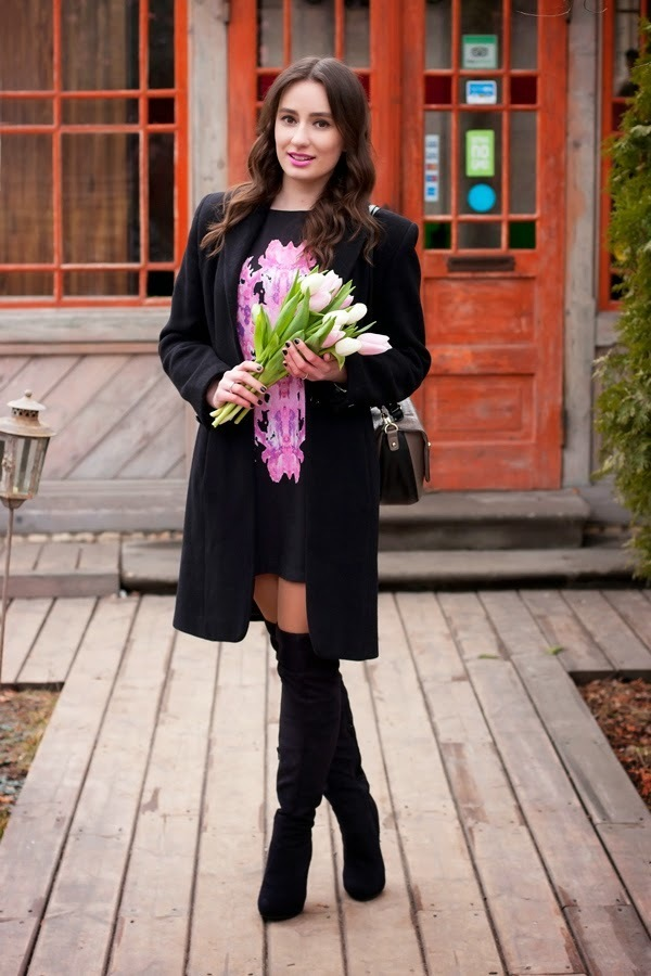 11 negro un blanco con un combinar recto vestido abrigo Cómo y vgO0p