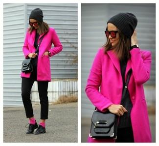 un abrigo looks 9 un de moda rosa con combinar Cómo Moda gorro qwXxSnIp