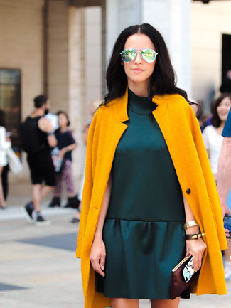 Abrigo vestido verde