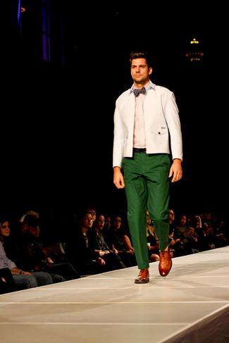 Pantalón chino verde de Kent & Curwen