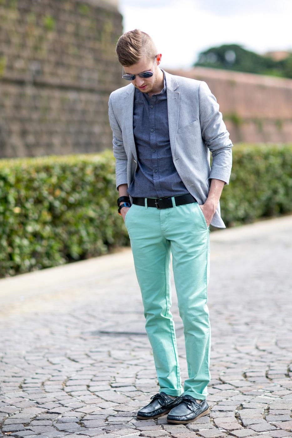 de combinar camisa manga larga Cómo azul chino gris de cambray blazer pantalón wxadqWt0f