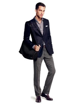 Pantalón de vestir de lana gris de J.W.Anderson