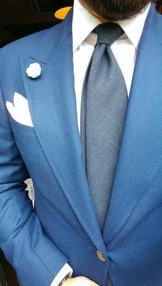 Corbata de lana azul marino de Thom Browne