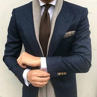 Blazer de lana azul marino de Harry Brown