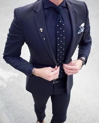 Pantalon Negro Y Camisa Azul Hombre Tienda Online De Zapatos Ropa Y Complementos De Marca