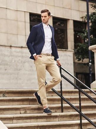 Unos Pantalones De Vestir Con Un Blazer Azul Para Hombres De 30 Anos 1200 Outfits Lookastic Espana