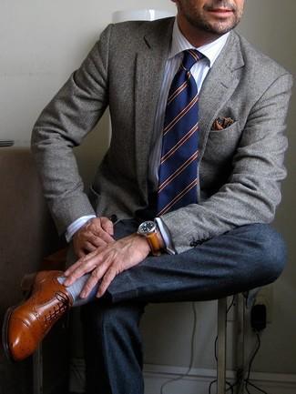 Pantalón de vestir de lana en gris oscuro de Neil Barrett