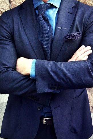 Blazer de lana azul marino de Farah Smart