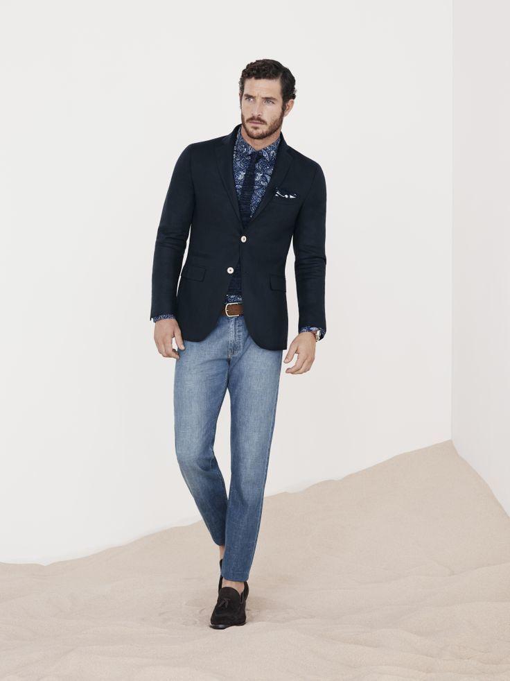 Como combinar un blazer negro para hombre