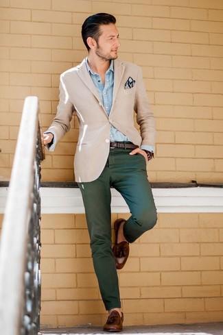 Pantalón chino verde oscuro de Tommy Hilfiger