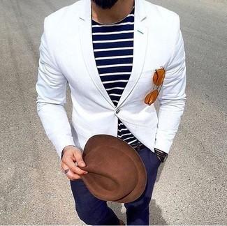 Sombrero de lana marrón de CA4LA