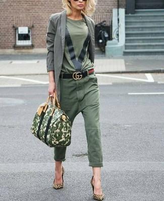 Como Combinar Un Pantalon Chino Verde Oliva 14 Outfits Lookastic Espana