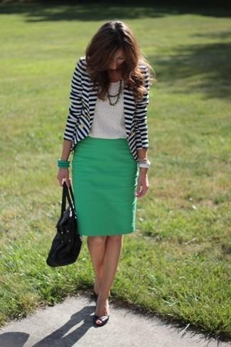 Cómo combinar un blazer de rayas horizontales (14 looks de moda ... 611c1dad3960