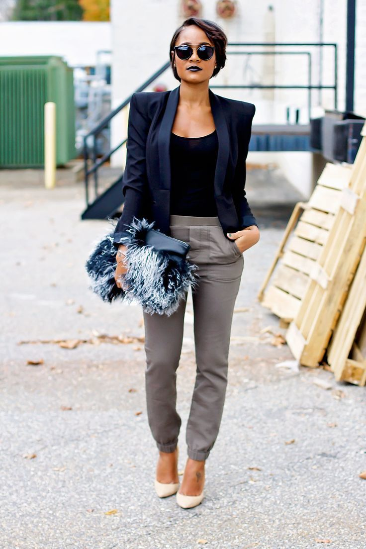 Como combinar un blazer azul claro mujer