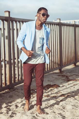 Pantalón chino burdeos de New Look