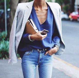precio baratas más vendido el precio se mantiene estable Cómo combinar un blazer celeste (46 looks de moda) | Moda ...