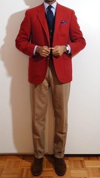 Chaqueta roja de Jack & Jones