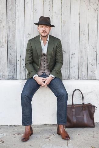 Sombrero de lana en marrón oscuro de ASOS DESIGN