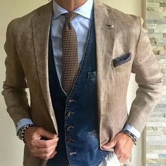 Pañuelo de bolsillo en gris oscuro de Charvet