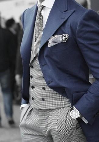 Chaleco de vestir gris de Tommy Hilfiger