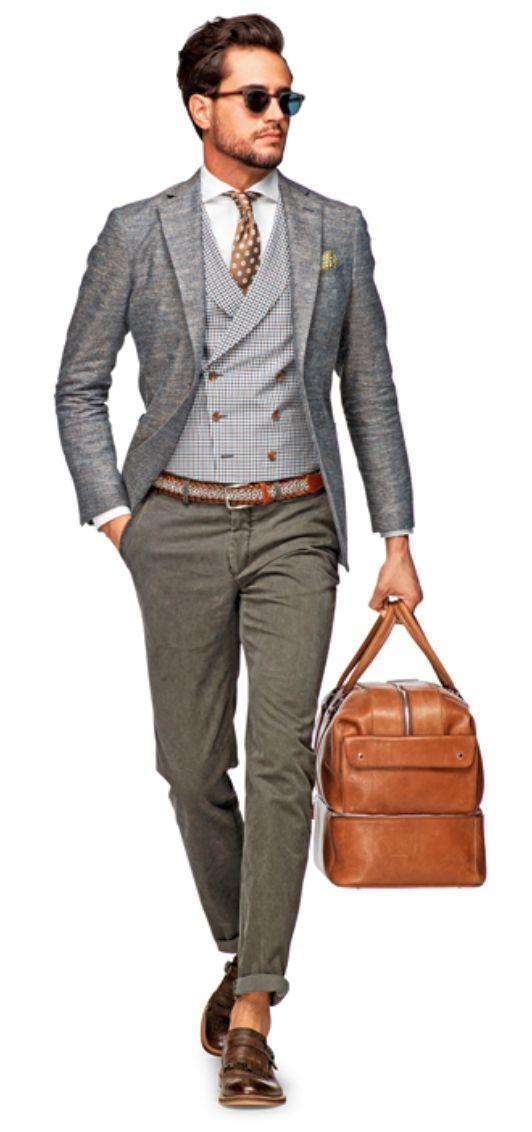 Outfit Pantalon Gris Mezclilla Hombre